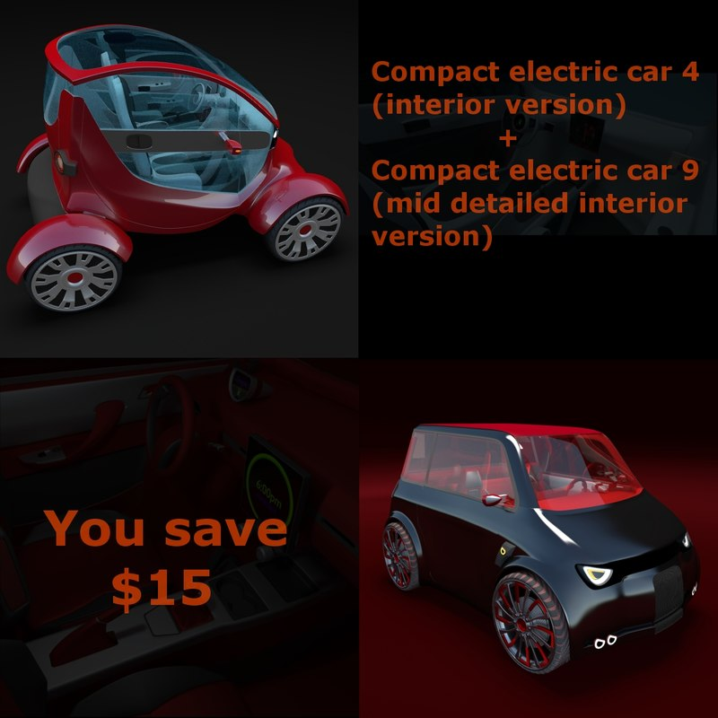 pack concept cars 3d model