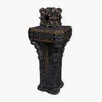 pedestal artifact 3d model