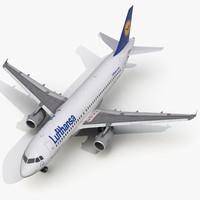 Airbus A320 Lufthansa 3D Model