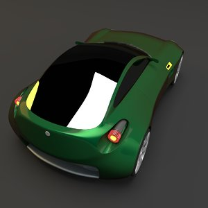 3d concept styled coupe car