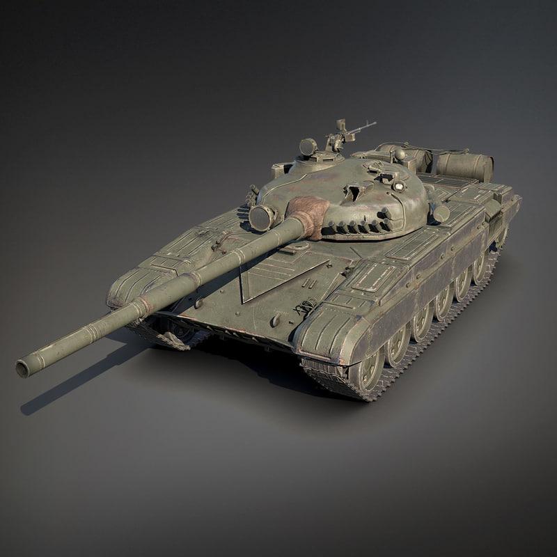 3d model low-poly t-72