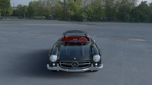 rigged mercedes 300sl gullwing 3d obj