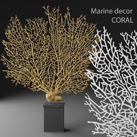 coral gorgonian statuette