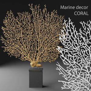 3d coral gorgonian statuette