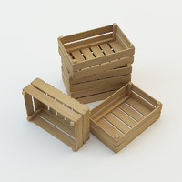 realistic wooden crate 3d model