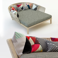 3d model garden sofa