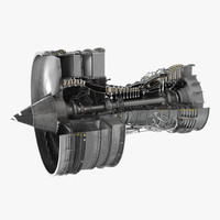 turbofan aircraft engine sectioned max