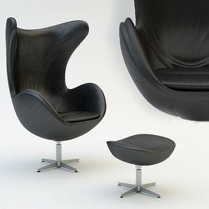 egg chair 3d max
