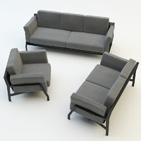 furniture collections sofa chair 3d model