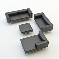 sofa chair set obj