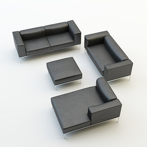 sofa chair set obj