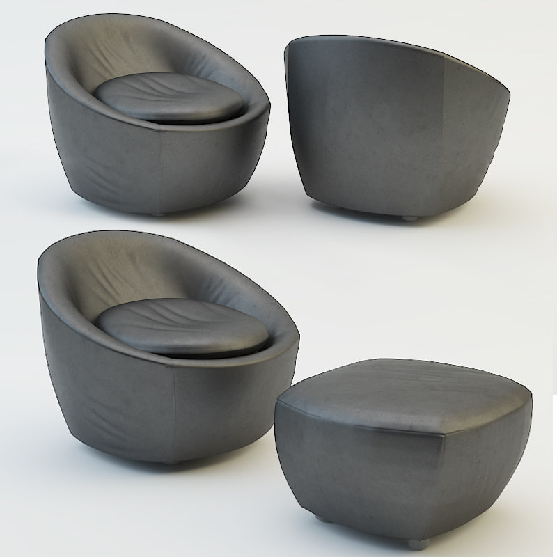 3d model pouf chair