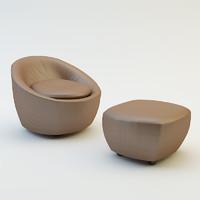pouf chair obj
