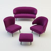 living room furniture set obj