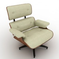 eames lounge chair 670 3d max