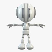 3d robot character bot model