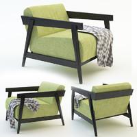3d chair garden plaid model