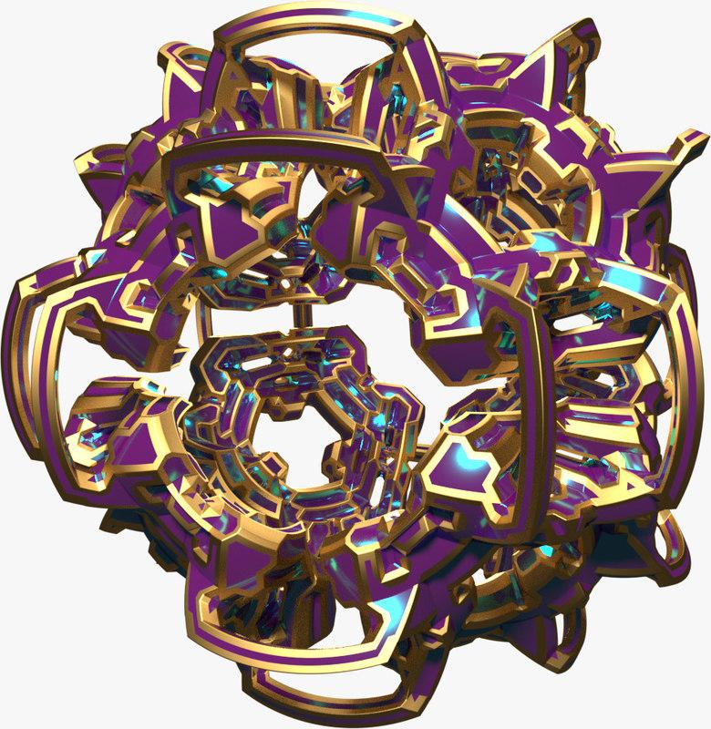 shape abstract 3d obj