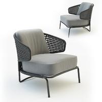 3d model of outdoor armchair