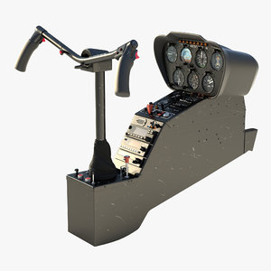 light helicopter control panel 3d model