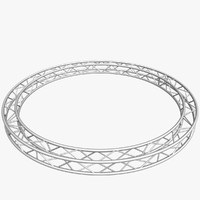 3d model circle square truss 400cm