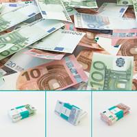 3d euro banknotes
