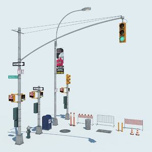 nyc street 3d model