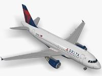 3d model airbus delta air lines