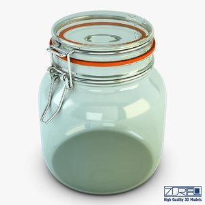 3d jar hermetic 1 liter model