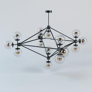 chandelier modo 3d max