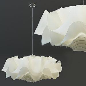 chandelier kelopak 3d max