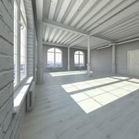 base loft interior scene max
