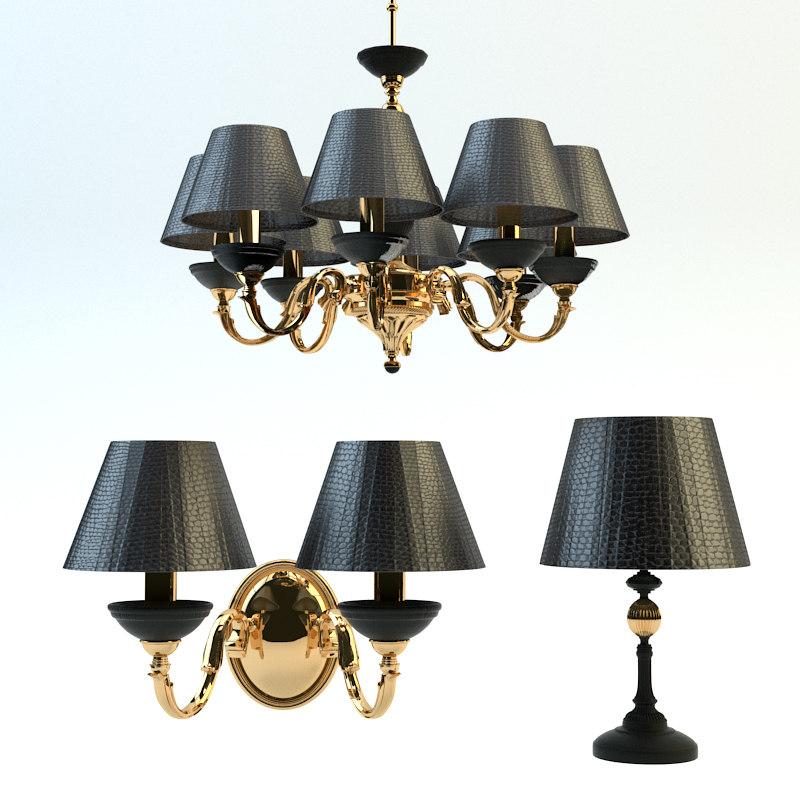3d chandelier set kutek