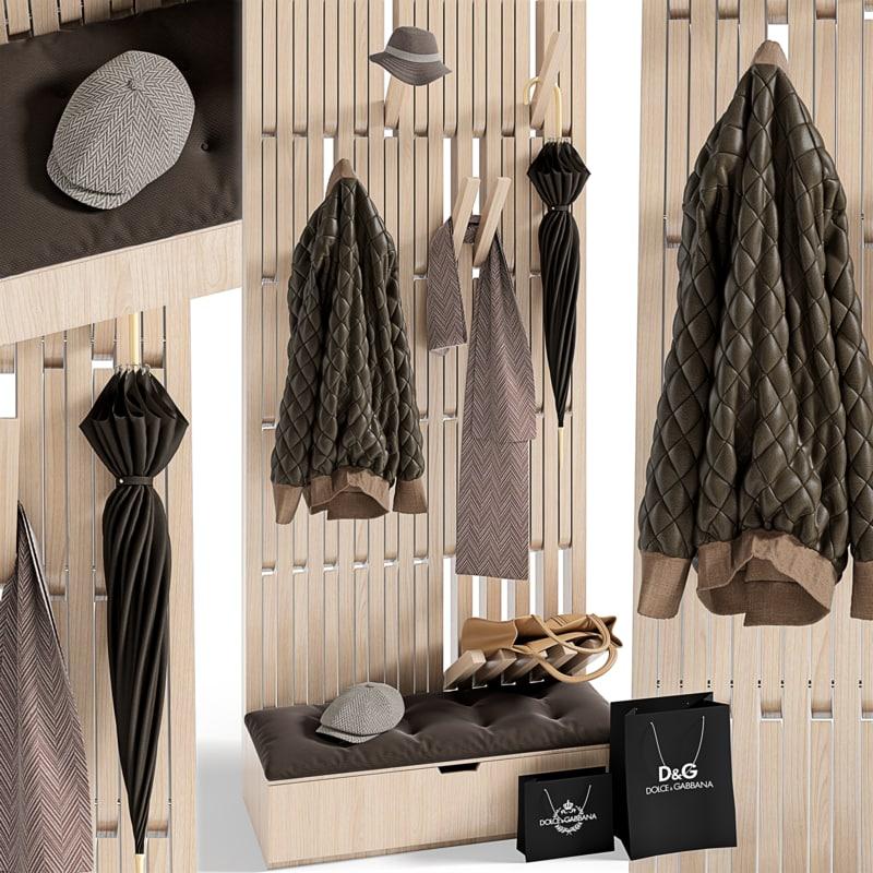 hanger set hallway 3d 3ds