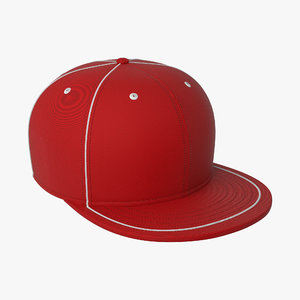 Baseball Cap-Red(piping)