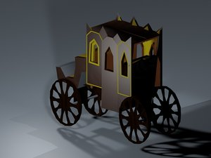 carriage low poly