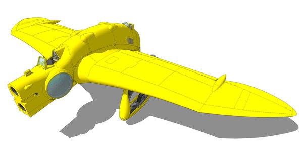 nausicaa gunship 3d 3ds