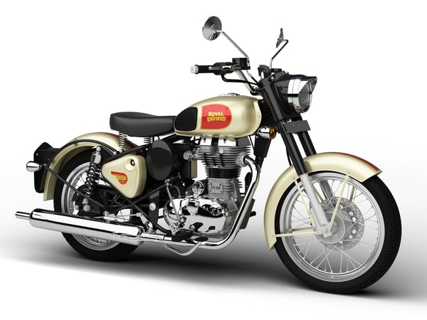 royal enfield classic 500 3d model