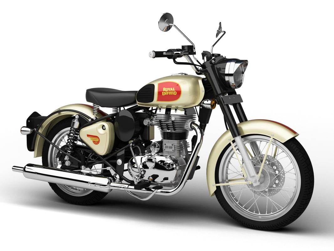 royal enfield classic 500 3d model