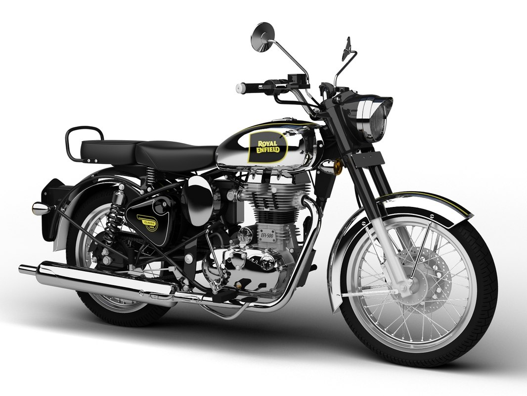 royal enfield classic chrome 3d 3ds
