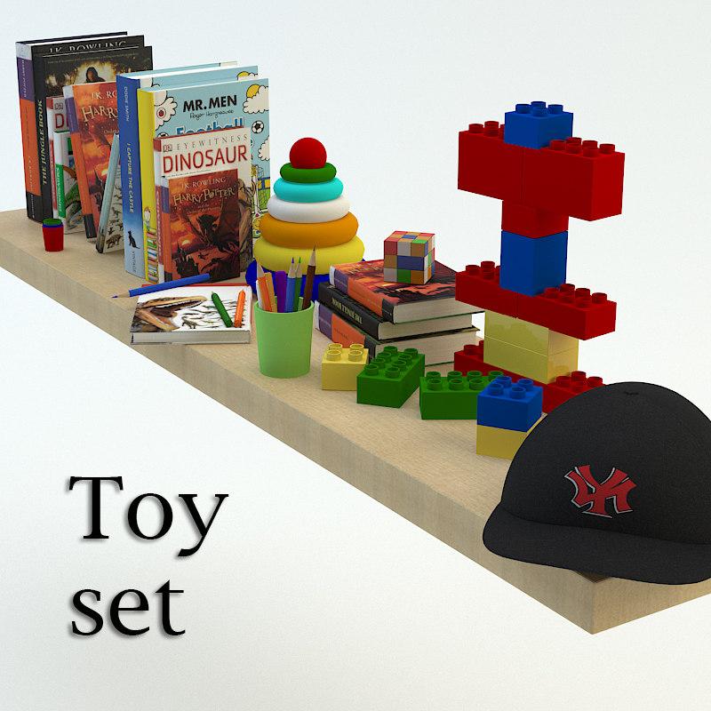 toys set 3d model