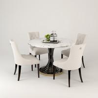 3d eicholtz dining table spiral