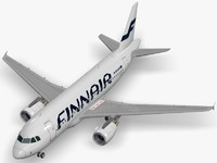 3d model airbus finnair a319