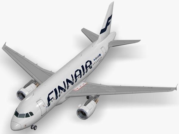 3d model airbus finnair a319