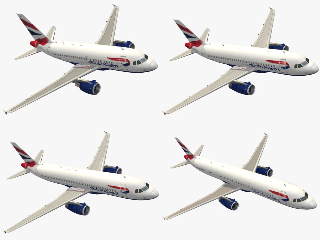 3d airbus a320 family british airways