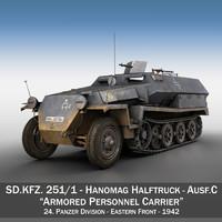 SD.KFZ 251/1 Ausf.C - Half-track - 24PD