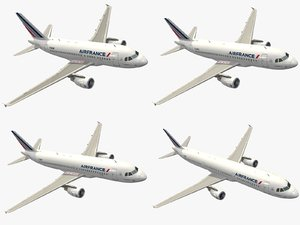 3d airbus a320 family air france model