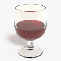 wine glass obj