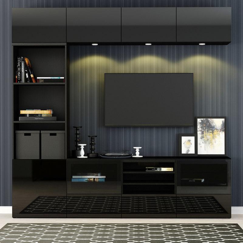 Kitchen Cabinet Tv Cabinet Wordrobe Malaysia: TurboSquid 1061912