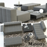 sofa lounge minotty 3d model